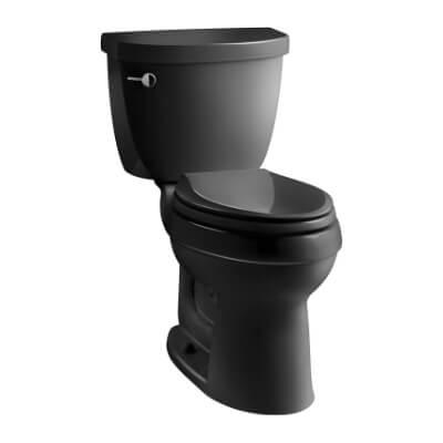 KOHLER K-3609-7 Cimarron Comfort Height Elongated 1.28 gpf Toilet